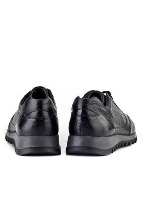 Cabani Erkek Ayakkabı Siyah Naturel Floter Deri 3