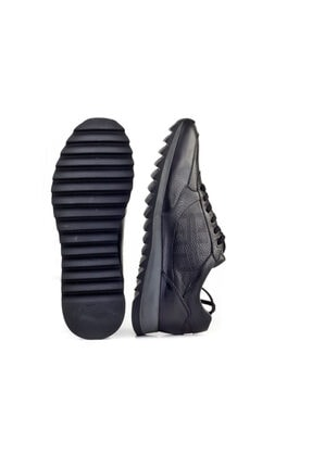Cabani Erkek Ayakkabı Siyah Naturel Floter Deri 4