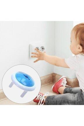 Asrın Store Unisex Mavi Anahtarlı Bebek ve Çocuk Koruyucu Priz Kilidi Aparatı 6 Adet 4