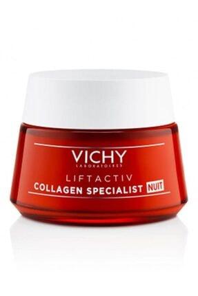 Vichy Liftactiv Collagen Specialist Night 50ml | Yaşlanma Karşıtı Gece Bakım Kremi 0
