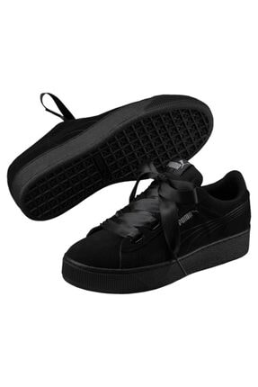 Puma Kadın Siyah Vikky Platform Ribbon Kadın Spor Ayakkab 366418 01 0