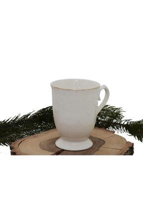 Arow Ayaklı Porselen Kupa arow kupa beyaz