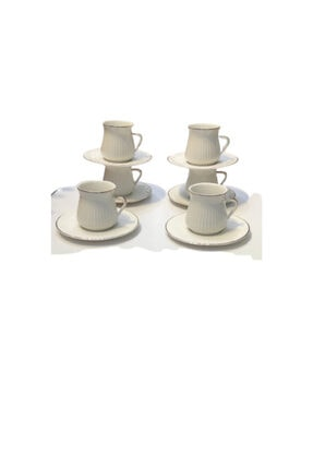 Furkan Bone China 6 Li Porselen Kahve Fincani klc10202