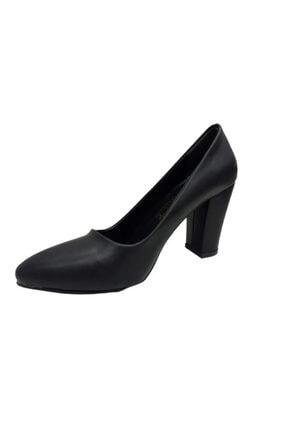 Beyonce Kadın Siyah Kalın Topuk Ayakkabı 2