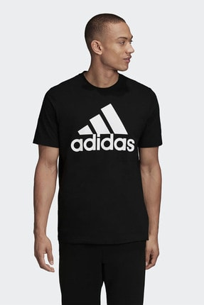 adidas Erkek Siyah Günlük Giyim T-shirt Mh Bos Tee Gc7346 0