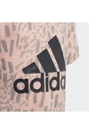adidas Çocuk Ekru Günlük T-Shirt Dj1466 Lg Pes Tee 2