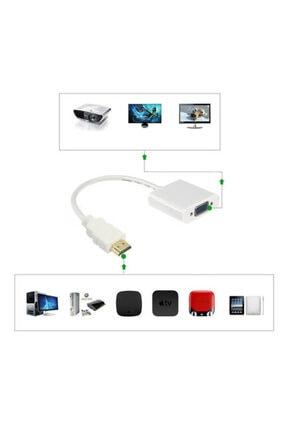 WOZLO Hdmi To Vga Çevirici Dönüştürücü Projeksiyon Notebok Pc Uyumlu Kablo 2