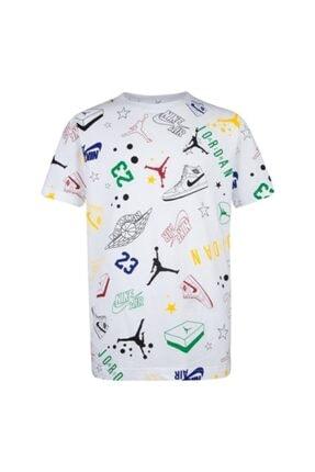 Nike Erkek Çocuk Beyaz Jordan Allstar Scrıbble  Tişört 95a075-001 0