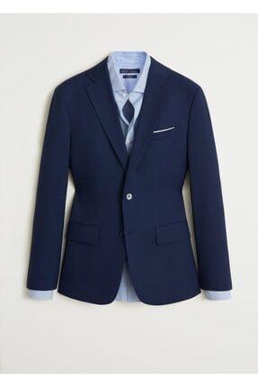 Mango Erkek Prusya Mavisi Regular Kesimli Mikro Dokuma Takım Blazer Ceket 67000515 0