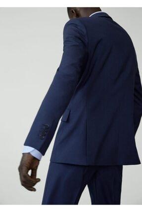 Mango Erkek Prusya Mavisi Regular Kesimli Mikro Dokuma Takım Blazer Ceket 67000515 3