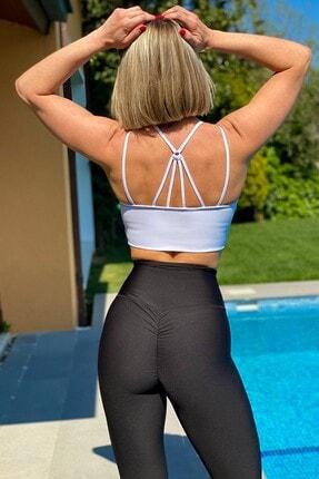 Alışveriş Sokağı Scrunch Butt Leggings Arkası Büzgülü Yüksek Bel Spor Tayt(17 Renk) 1