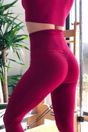 Alışveriş Sokağı Scrunch Butt Leggings Arkası Büzgülü Yüksek Bel Spor Tayt 1