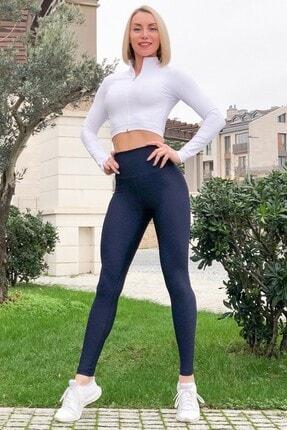 Alışveriş Sokağı Scrunch Butt Leggings Arkası Büzgülü Yüksek Bel Spor Tayt(18 Renk) 0