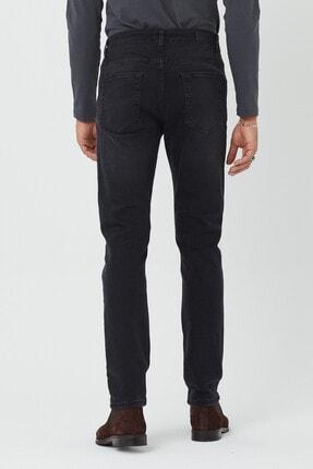BOSHETTI Erkek Koyu Füme Slim Fit Essentials Jean 3
