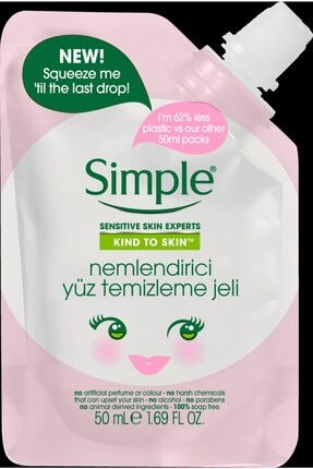 Simple Kind To Skin Mini Nemlendirici Yüz Temizleme Jeli 50 Ml 0