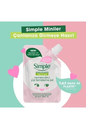 Simple Kind To Skin Mini Nemlendirici Yüz Temizleme Jeli 50 Ml 2