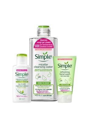 Simple Kind To Skin Hassas Ciltlere Uygun Sert Kimyasal İçermeyen İyi Kalpli Cilt Bakım Seti 1