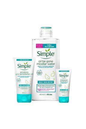 Simple Daily Skin Detox Yağlı/karma Ciltler Için Sert Kimyasalsız & Kekik Özü Içeren Bakım Seti 1