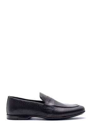 Derimod Erkek Siyah Deri Klasik Loafer 0