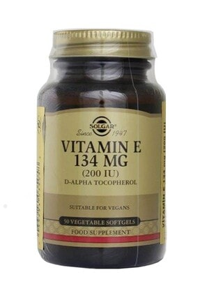 Solgar Vitamin E 200 Iu 50 Kapsül 033984035058 0