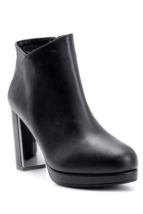Derimod Kadın Siyah  Topuklu Bot 1