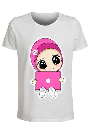 ABC Kadın Beyaz Baskılı T-shirt 0