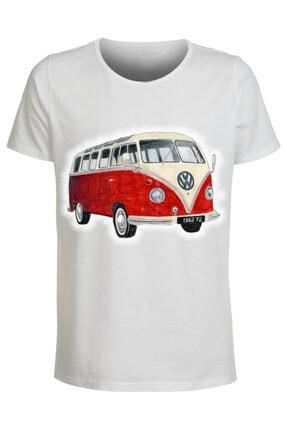 ABC Erkek Beyaz Baskılı T-shirt 0