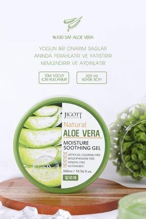 Jigott %100 Saf Aloe Vera Moisture Soothing Gel - Yoğun Nemlendirici Yatıştırıcı Bakım Jeli Büyük Boy 2