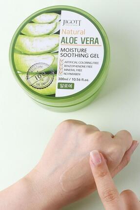 Jigott %100 Saf Aloe Vera Moisture Soothing Gel - Yoğun Nemlendirici Yatıştırıcı Bakım Jeli Büyük Boy 4