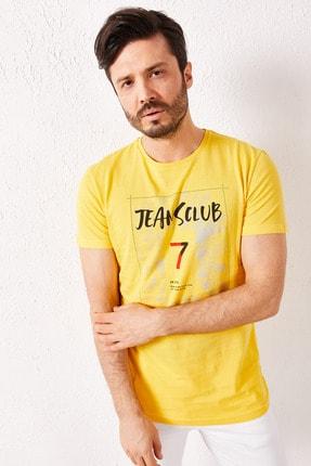 Zafoni Erkek Sarı 7 Baskılı T-shirt 2
