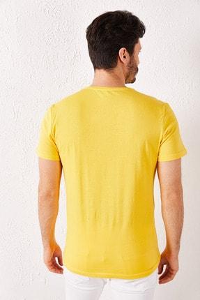 Zafoni Erkek Sarı 7 Baskılı T-shirt 3
