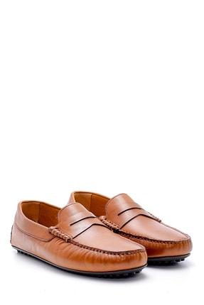Derimod Erkek Taba  Deri Casual Loafer 2