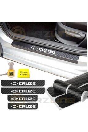 Adel Chevrolet Cruze Karbon Kapı Eşiği Oto Sticker 4 Adet 0