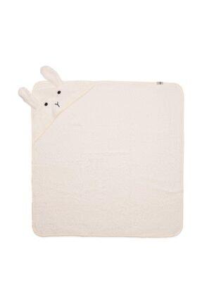 Cigit Bebek Kulaklı Tavşan Nakışlı Banyo Havlusu 75x75 cm 1