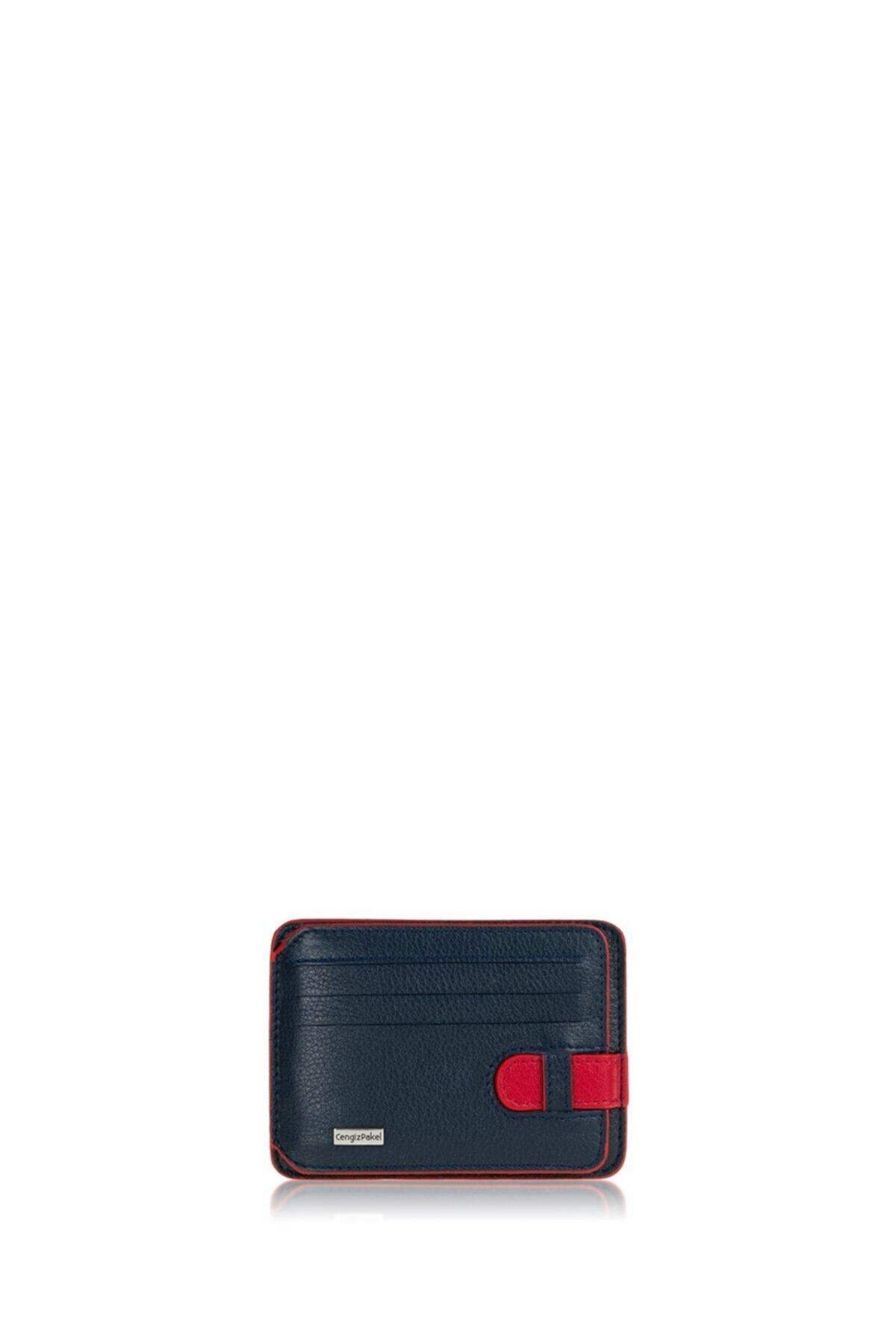 Hakiki Deri Kartlık 2404-lacivert-kırmızı