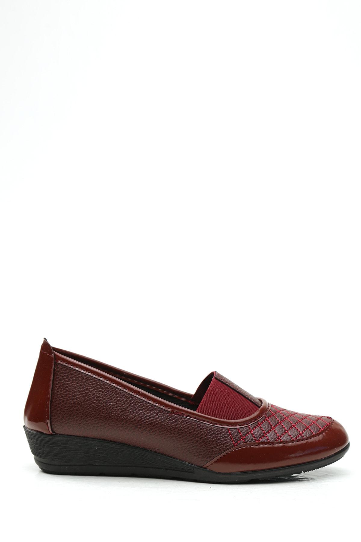 Kadın Bordo Casual Ayakkabı