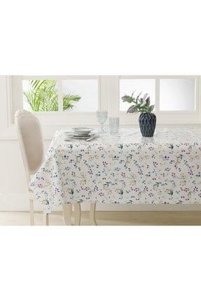 English Home Bej Flower Garden Pvc Masa Örtüsü 140x140 cm 0