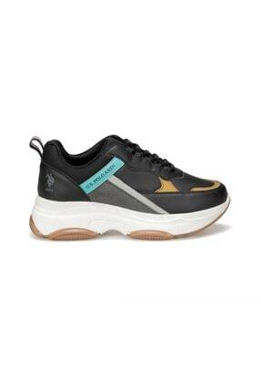 US Polo Assn BETSY 9PR Siyah Kadın Sneaker Ayakkabı 100417775 1