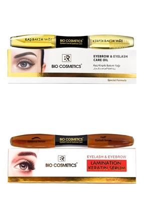 BR Bio Cosmetics Kaş Kirpik Bakım Keratin Ve Yağ Set 2'li 0
