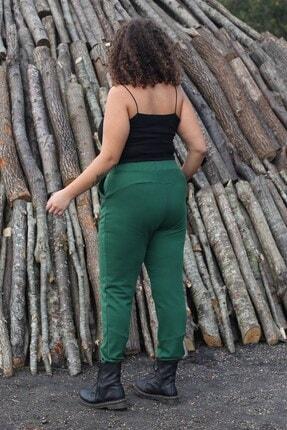 Curly Store Kadın Yeşil Cepli Büyük Beden Eşofman Altı 2