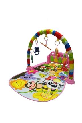 huanger Piyanolu Bebek Oyun Halısı Eğitici Oyuncak Pembe Ekonomik Model 1
