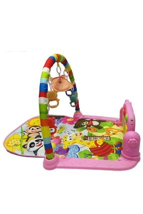 huanger Piyanolu Bebek Oyun Halısı Eğitici Oyuncak Pembe Ekonomik Model 2