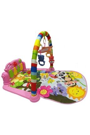 huanger Piyanolu Bebek Oyun Halısı Eğitici Oyuncak Pembe Ekonomik Model 3