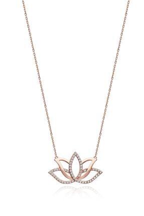 Gümüş Tezgahi 925 Ayar Gümüş Lotus Yaşam Çiçeği Aşk Kolyesi 0