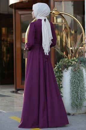 Lavienza Kruvaze Tesettür Elbise 2