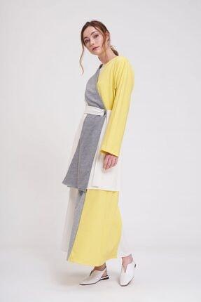 Mizalle Parçalı Kuş Gözlü Iki Iplik Kimono (sarı) 2