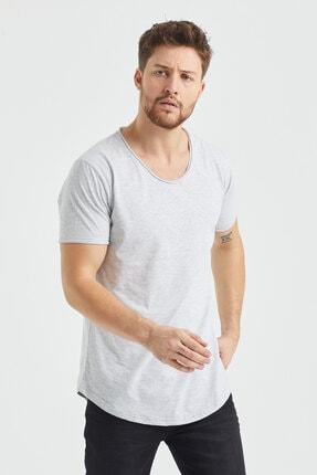 Tarz Cool Erkek Gri  Salaş T-shirt 1