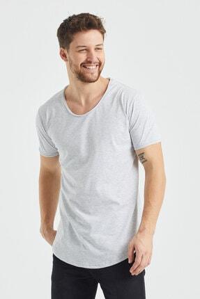 Tarz Cool Erkek Gri  Salaş T-shirt 3