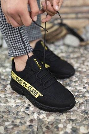 Riccon Erkek Siyah Sarı Cilt Sneaker 0012santo 2