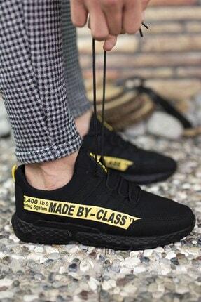 Riccon Erkek Siyah Sarı Cilt Sneaker 0012santo 3